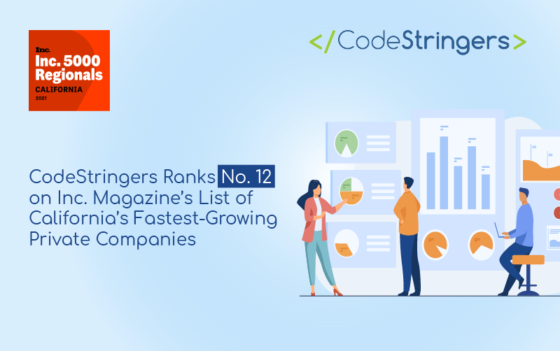CodeStringers Named by Inc. Magazine as the Number 12 Fastest Growing Private Company in California